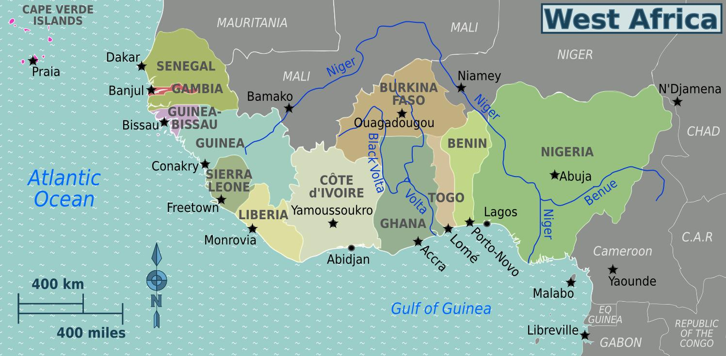 Map of ghana west africa   Map of ghana west africa (Western