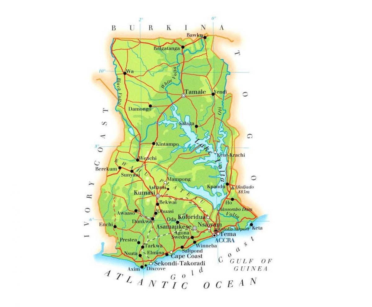 Drainage map of ghana - Map of drainage ghana (Western ... on geological map of ghana, elevation map of ghana, vegetation map of ghana, relief map of ghana, topographic map of ghana, road map of ghana, tourist map of ghana,