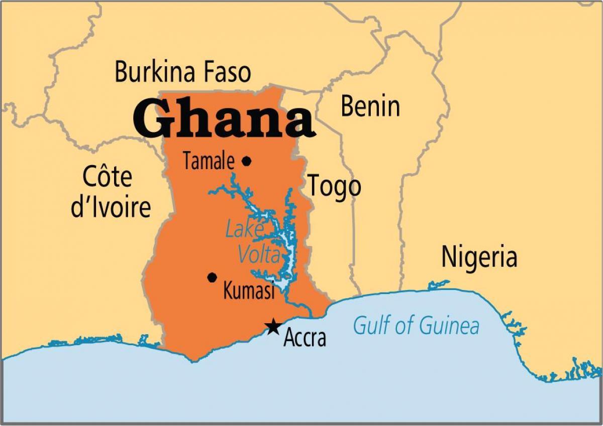 Full map ghana   Map of full ghana (Western Africa   Africa)