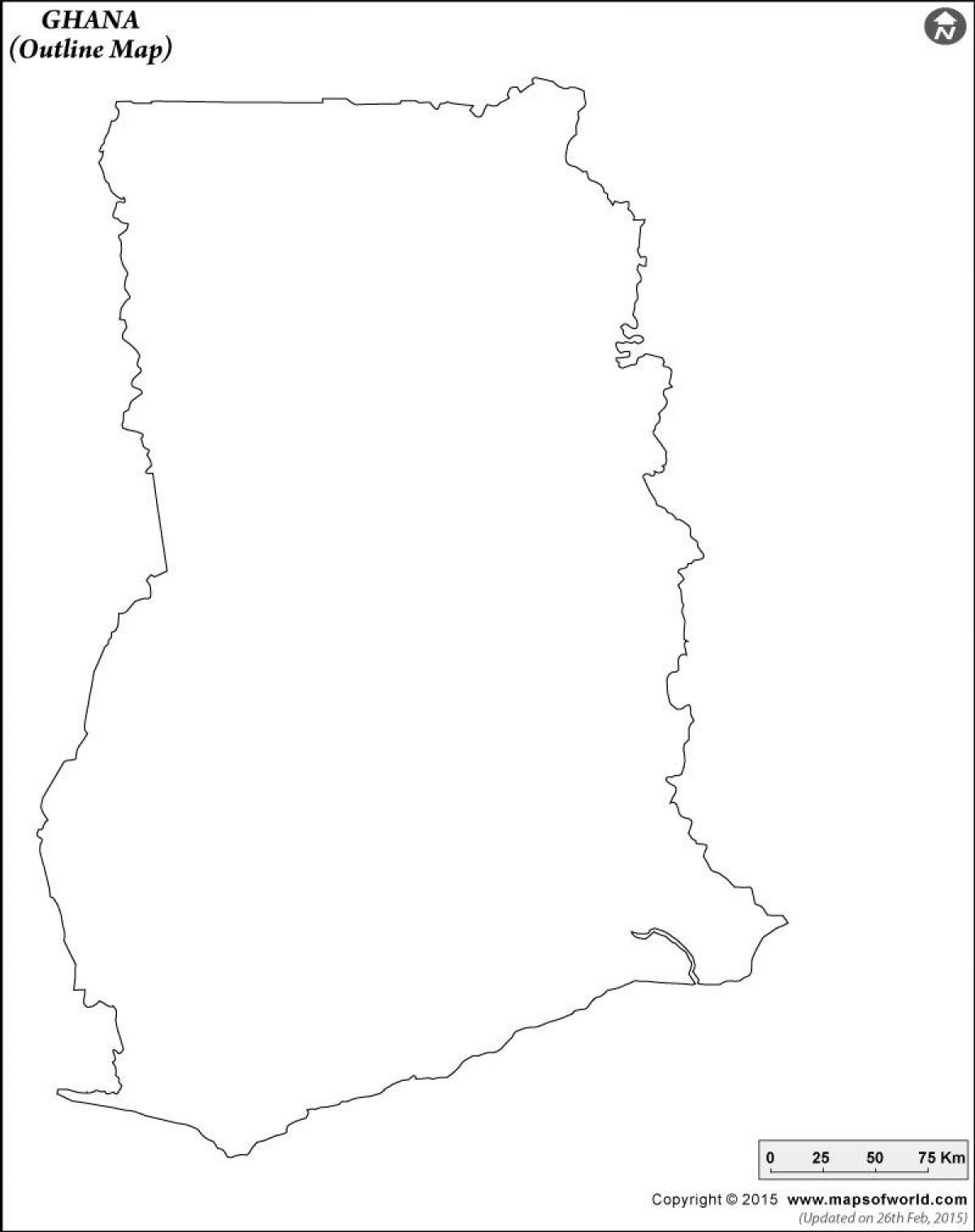 blank map of ghana