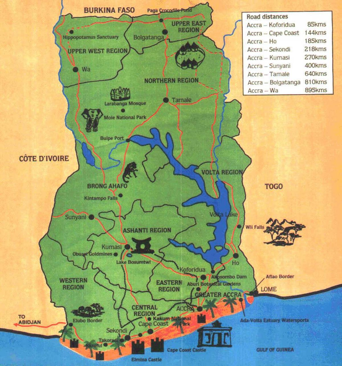 Map Of Ghana West Africa.Picture Of Ghana Map Map Of Picture Of Ghana Western